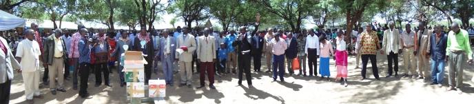 Ilchamus Dedication Church Leader's Pray over Books (2)